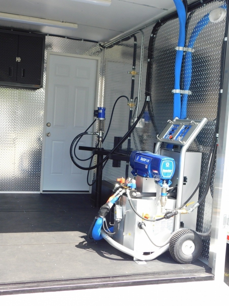 Residential spray foam rig