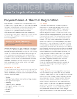 16 AX396 Polyurethanes and Thermal Degradation