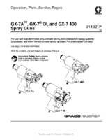 311321P – GX-7A, GX-7 DI, and GX-7 400 Spray Guns, Operation, Parts, Service, Repair, (English) noptc