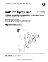 311322M, Graco-Gusmer, GAP Pro Spray Gun, Operation, Parts, Service and Repair, (English) noptc