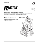 312065T – Reactor, Electric Proportioners, Operation, (English) noptc