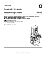 334945D, Reactor 2 Hydraulic Proportioning Systems Operation (English)