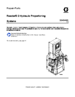 334946B, Reactor 2 Hydraulic Proportioning Systems, Repair, Parts (English)