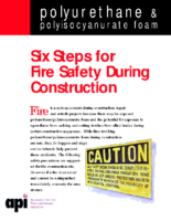API Six Steps for Fire Safety During Construction