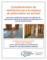 Consideraciones de ventilacin para la espuma de poliuretano en aerosol