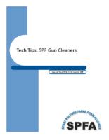 Tech Tip SPF Gun Cleaners