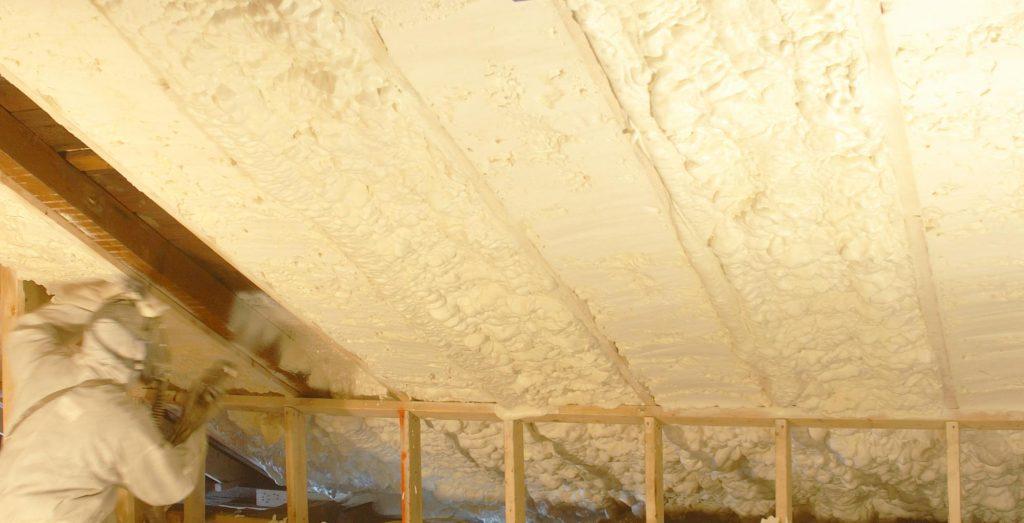 Spray Foam insulation in an attic