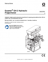 Gusmer Hydraulic Proportioner, Instructions, English